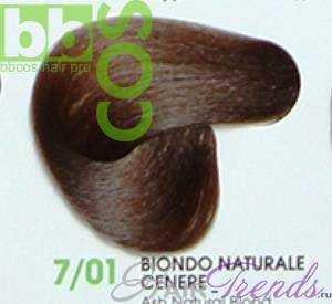 BBCos Keratin Color 7/01 блонд натуральный