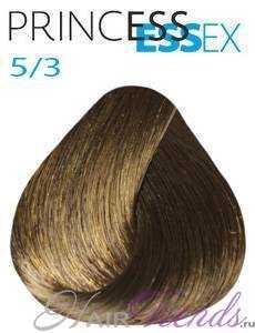 Estel Princess Essex 5/3, цвет светлый шатен