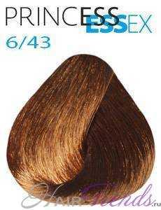 Estel Princess Essex 6/43, цвет темный русый медно-золотой