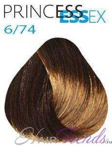 Estel Princess Essex 6/74, цвет темный русый коричнево-медный