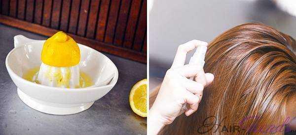 Как натурально осветлить волосы лимоном
