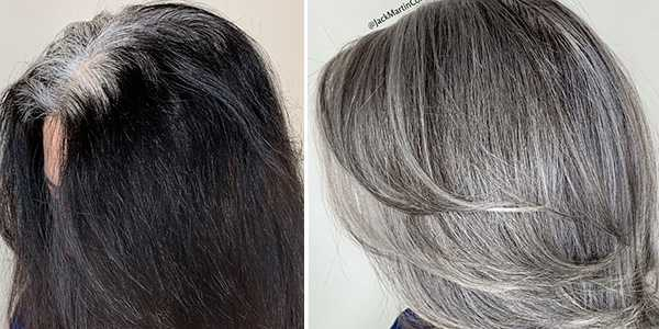 Как вернуть седой цвет волос, если ваши волосы окрашены