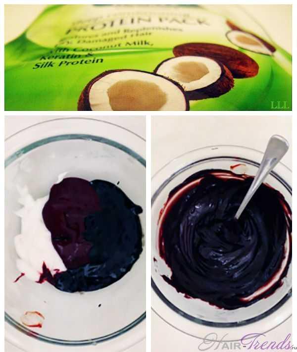 Добавление кокосового масла в краску для волос