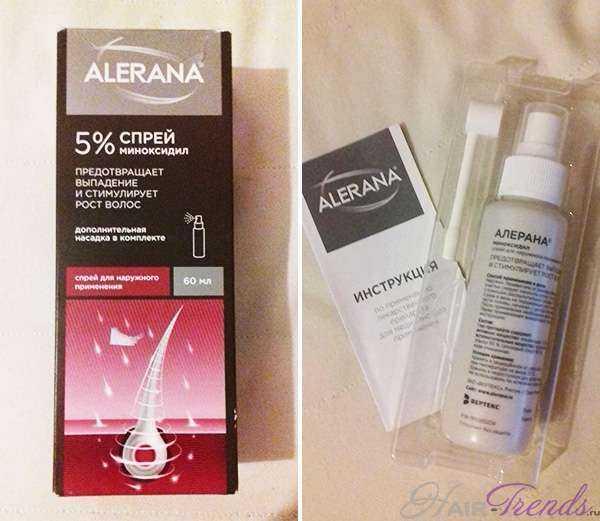 Спрей Алерана от выпадения и для ускоренного роста волос