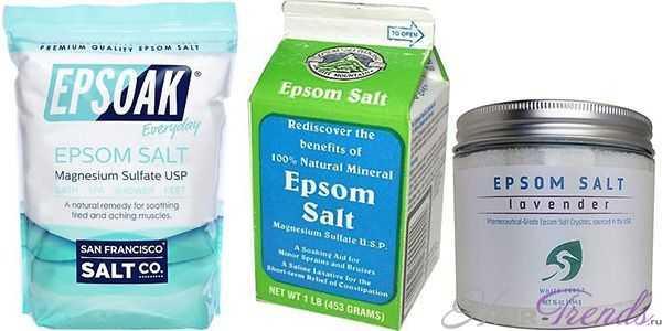 Английская соль Эпсома для волос