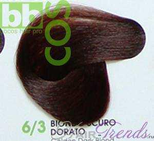 BBCos Keratin Color 6/3 темный блонд золотистый