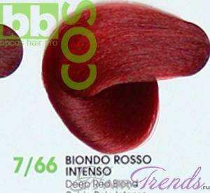 BBCos Keratin Color 7/66 блонд красный интенсивный