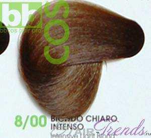 BBCos Keratin Color 8/00 блонд светлый интенсивный