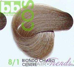 BBCos Keratin Color 8/1 светлый блонд пепельный