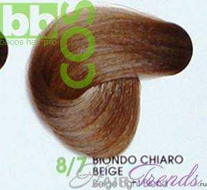 BBCos Keratin Color 8/7 светлый блонд бежевый