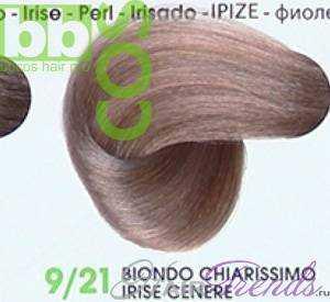 BBCos Keratin Color 9/21 очень светлый блонд фиолетово-пепельный