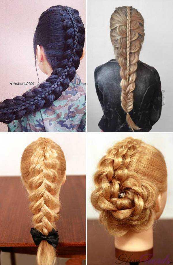 Двойная коса из двух кос