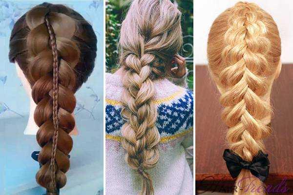 Двойная коса, как сделать объемную косу из двух косичек