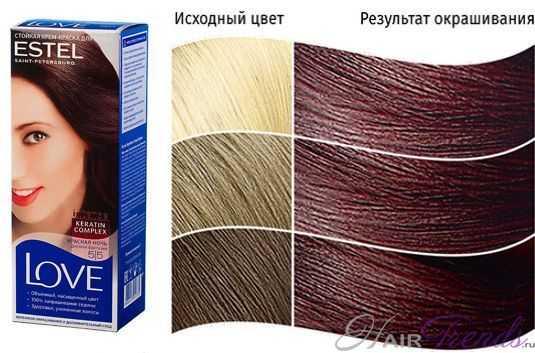 Краска ESTEL LOVE 5.5, цвет КРАСНАЯ НОЧЬ Дерзкая фантазия
