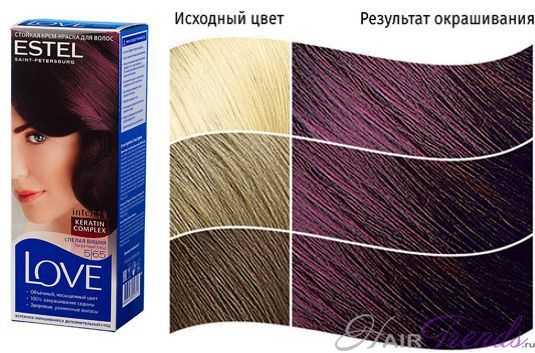 Краска ESTEL LOVE 5.65, цвет СПЕЛАЯ ВИШНЯ Запретный плод