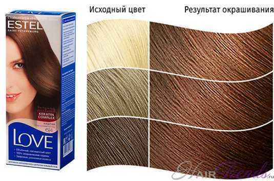 Краска ESTEL LOVE 6.4, цвет КАШТАН