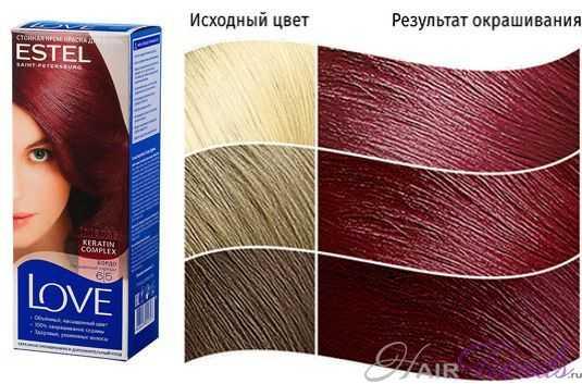 Краска ESTEL LOVE 6.5, цвет БОРДО