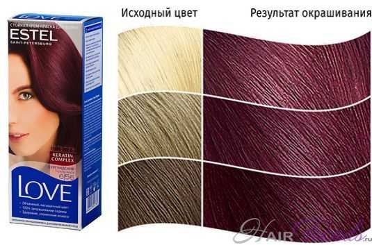 Краска ESTEL LOVE6.56, цвет БУРГУНДСКИЙ