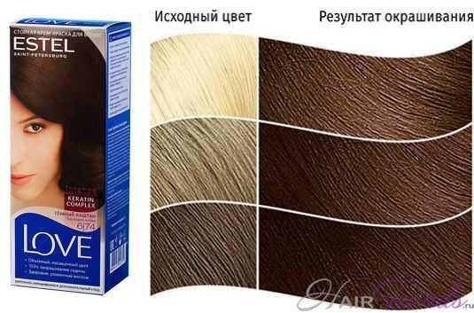 Краска ESTEL LOVE 6.74, цвет ТЕМНЫЙ КАШТАН