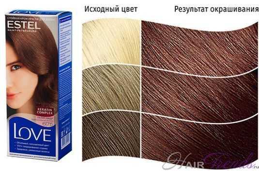 Краска ESTEL LOVE 6.75, цвет ПАЛИСАНДР
