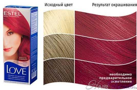 Краска ESTEL LOVE 7.5, цвет РУБИН