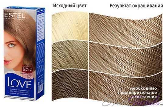 Краска ESTEL LOVE 8.0, цвет СВЕТЛО-РУСЫЙ Нежная карамель