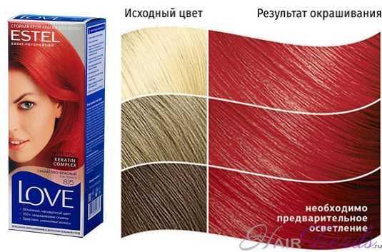 Краска ESTEL LOVE 8.5, цвет ГРАНАТОВО-КРАСНЫЙ Сок граната