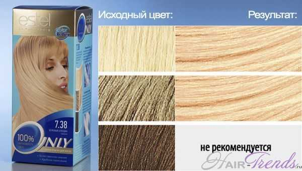 ESTEL Only color 7.38, цвет БЕЖЕВЫЙ БЛОНДИН Саванна