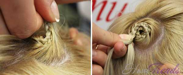 Коса улитка - плетение