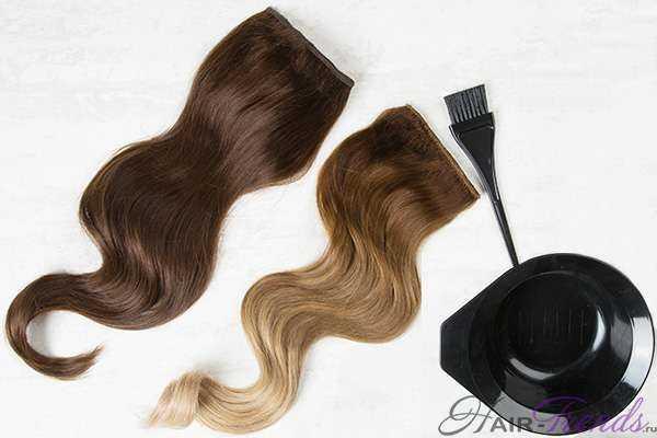 Как покрасить накладные волосы