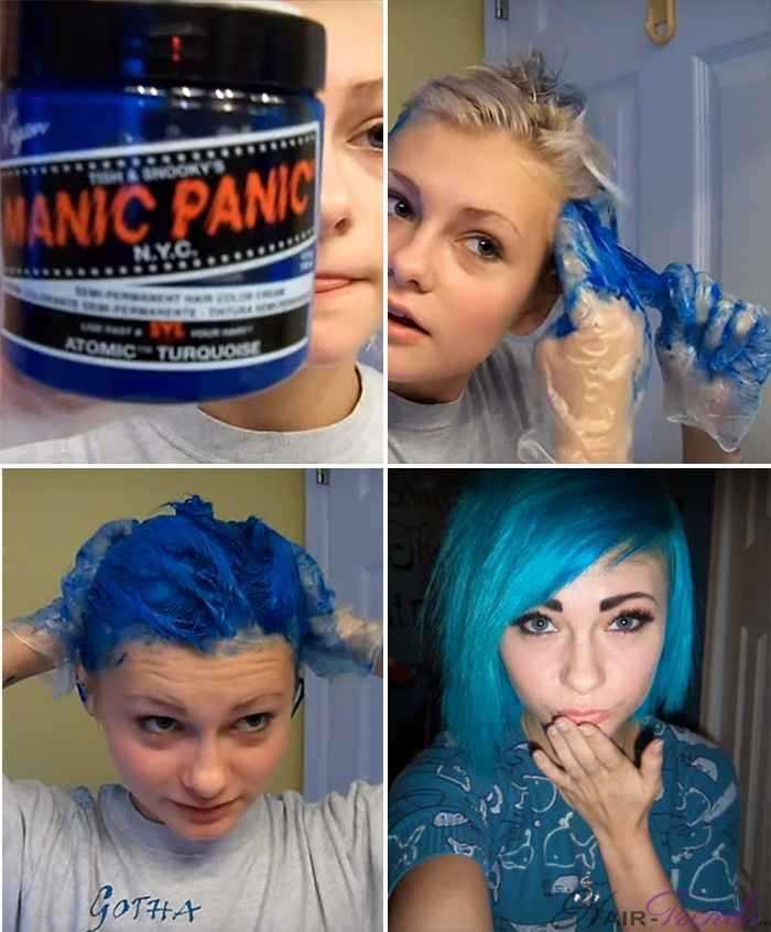 Синие волосы в домашних условиях 607