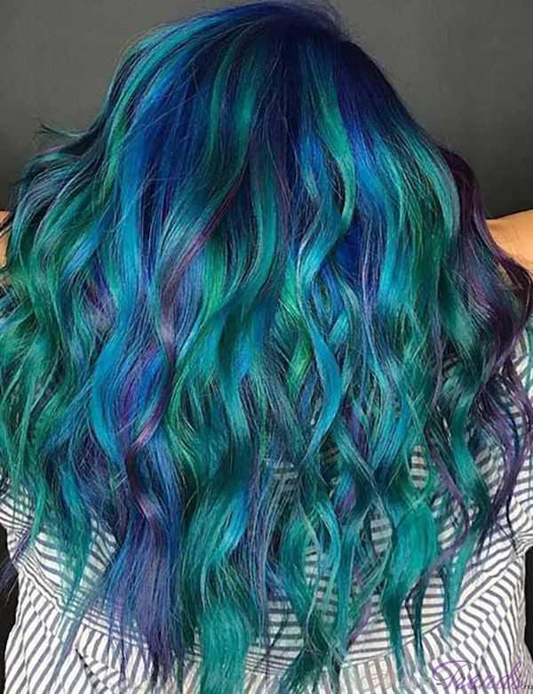 Как получить цвет волос как у русалки