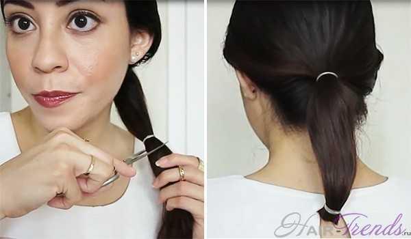 Как подстричь самой себе волосы каре