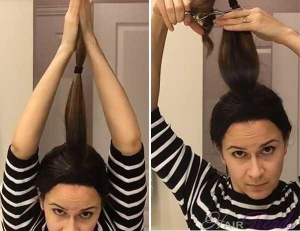Как подстричь самой волосы каскадом