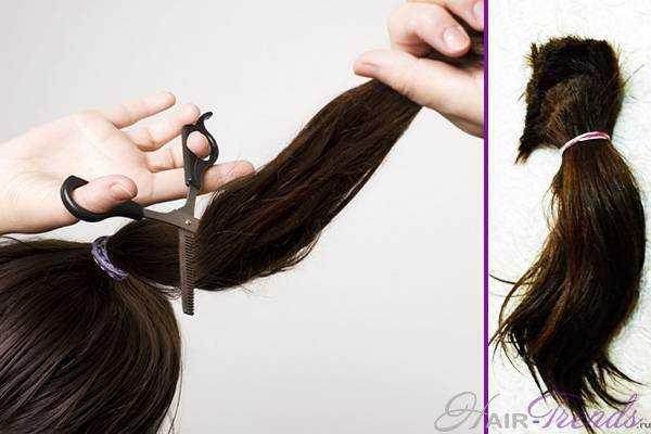 самостоятельно подстричь кончики волос