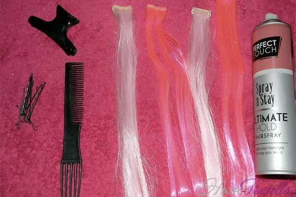 Как вплетать цветные пряди в косы