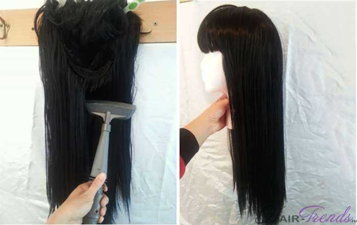 Запутанные накладные волосы как выпрямить