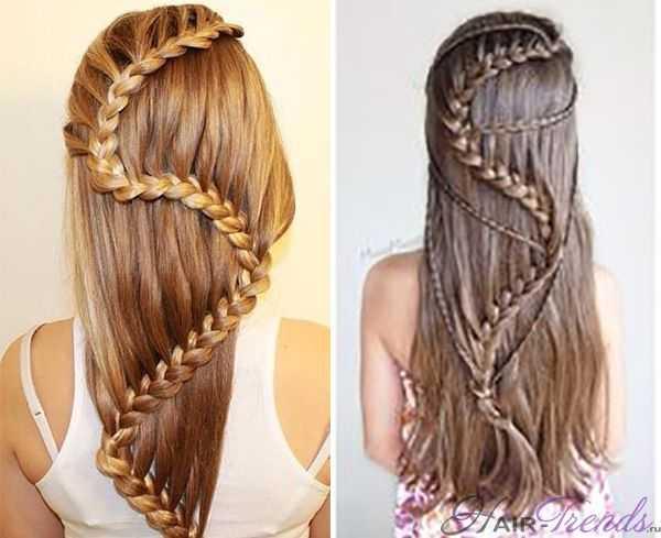 Плетение косы в виде змеи