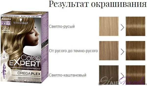 Шварцкопф Колор Эксперт 7.32 Бежевый темно-русый