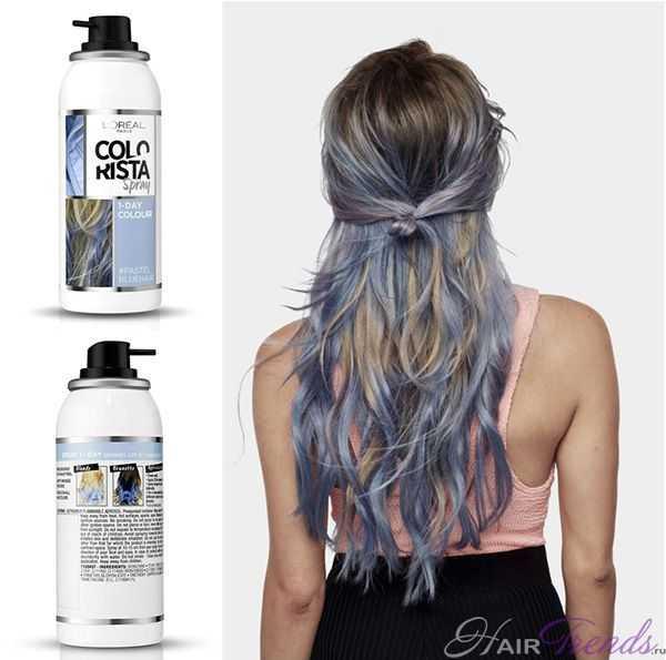 L'Oreal Colorista Пастельные Голубые волосы
