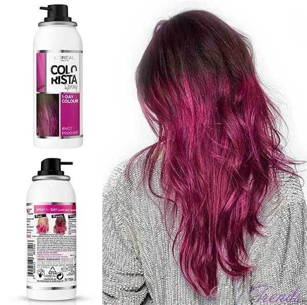 L'Oreal Colorista Волосы фуксия