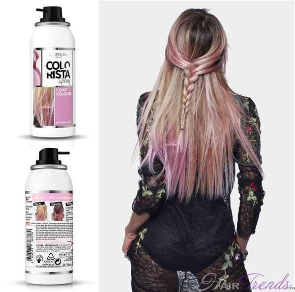 L'Oreal Colorista Розовые волосы