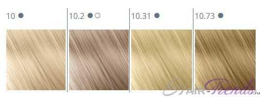 Краска для волос TICO, палитра цветов