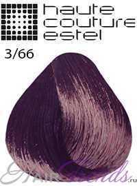 Краска Эстель Кутюр 3/66, цвет Темный шатен фиолетовый интенсивный