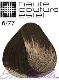 Краска Эстель Кутюр 6/77, цвет Темно-русый коричневый интенсивный