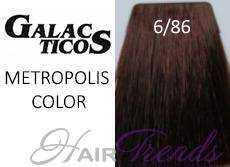 Краска Галактика 6.86, цвет темно-русый махагон фиолетовый