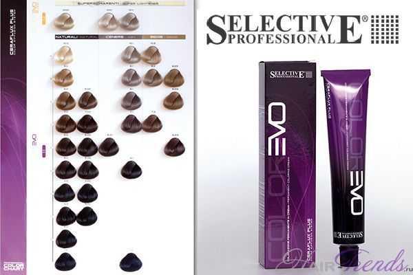 Профессиональная краска селектив палитра цветов на волосах