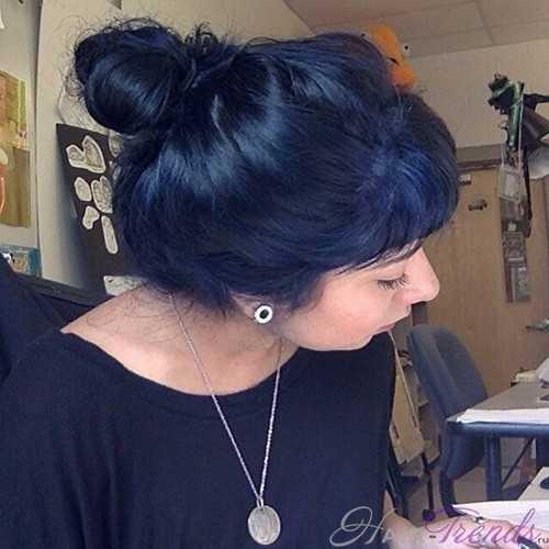 Лучшие оттенки синего цвета волос