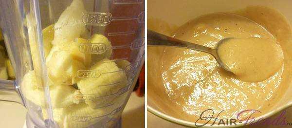 Маска для волос с бананом, медом и кокосовым маслом