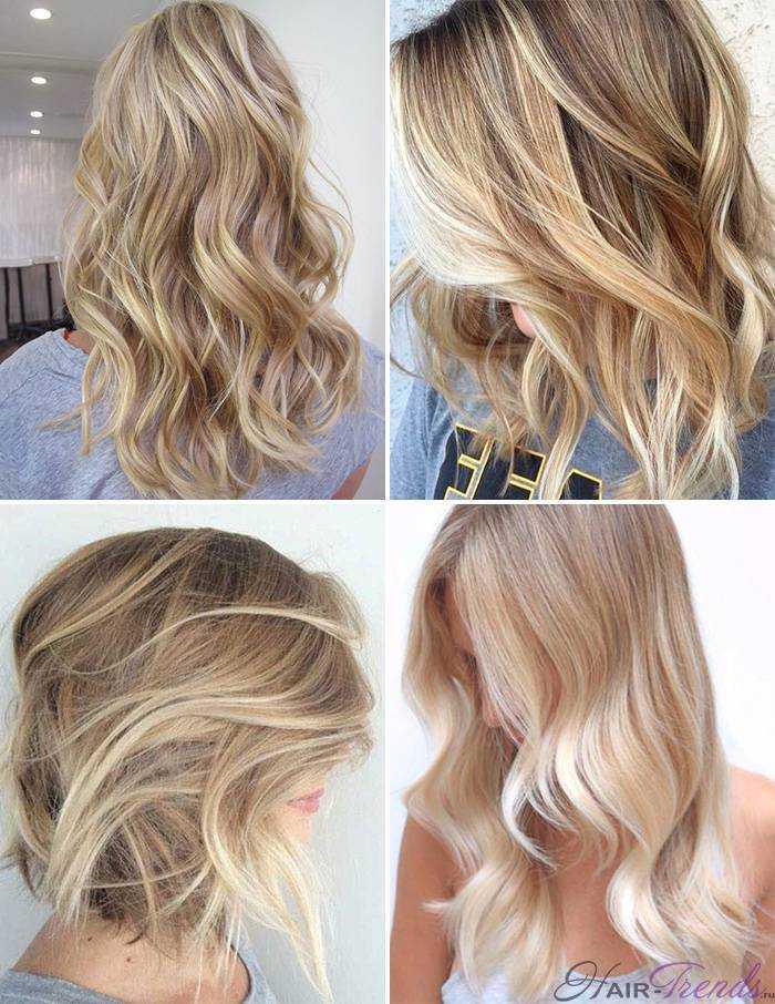 Модное окрашивание светлых волос, Песчаный блонд